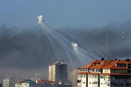Israel has been accused of using white phosphorus [Getty]