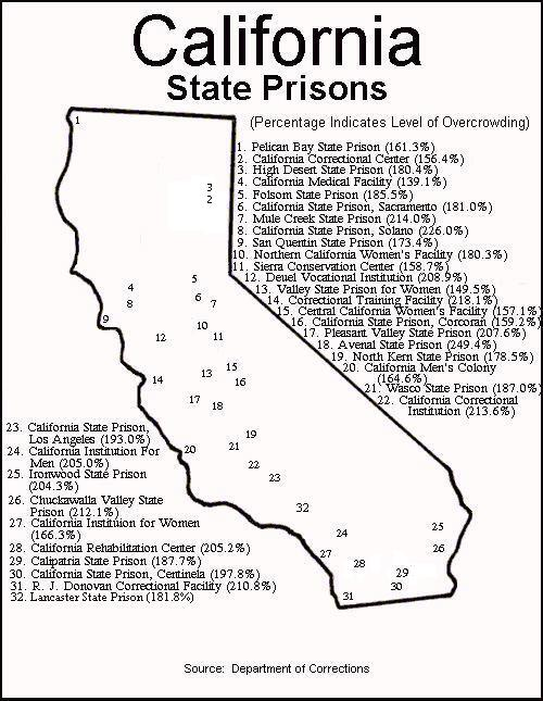 Image Result For Map Of Prisons In California